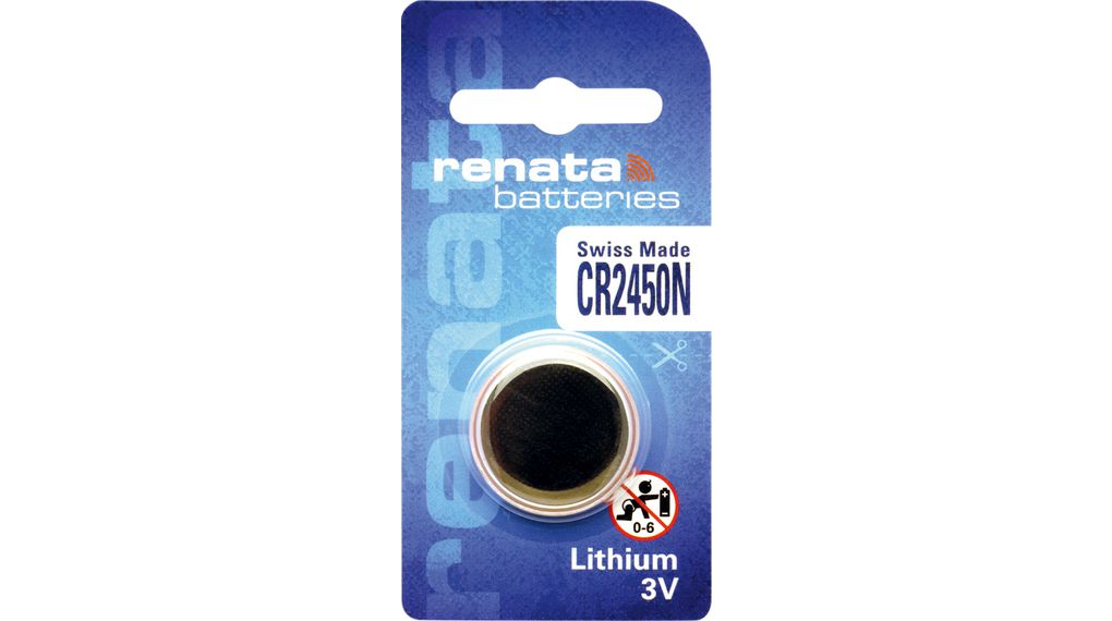 Acquista Button Cell Battery, Litio, CR2450N, 3V, 540mAh